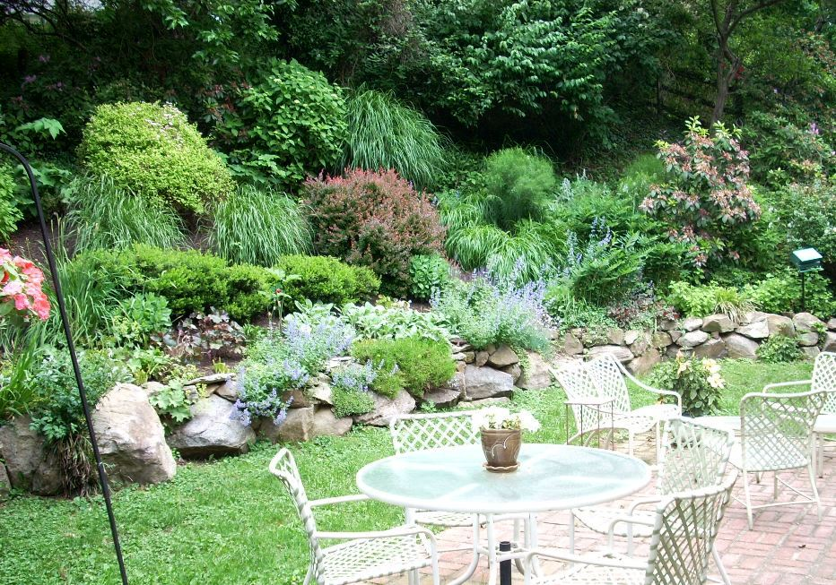 Main line landscaping design featuring a rock garden for Garden design blogs