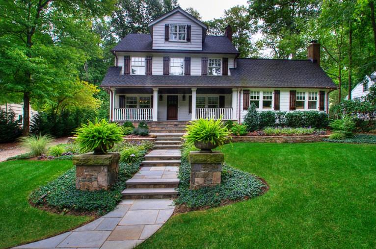 Ландшафтный дизайн у домов