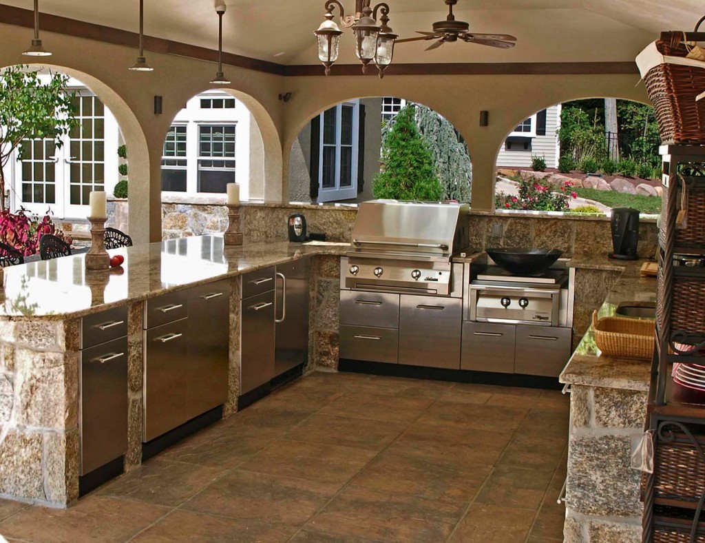 Stainless steel cabinets for your outdoor kitchen trend for Exterior kitchen ideas