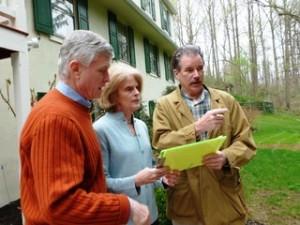 Steve Aardweg of Aardweg Landscaping discussing the proposed design
