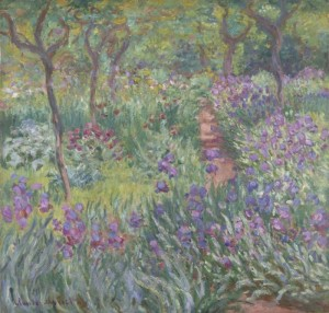 The Artist's Cottage Garden at Giverny - Claude Monet