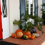 Aardweg Landscaping Main Line holiday decor with plants and pumpkins