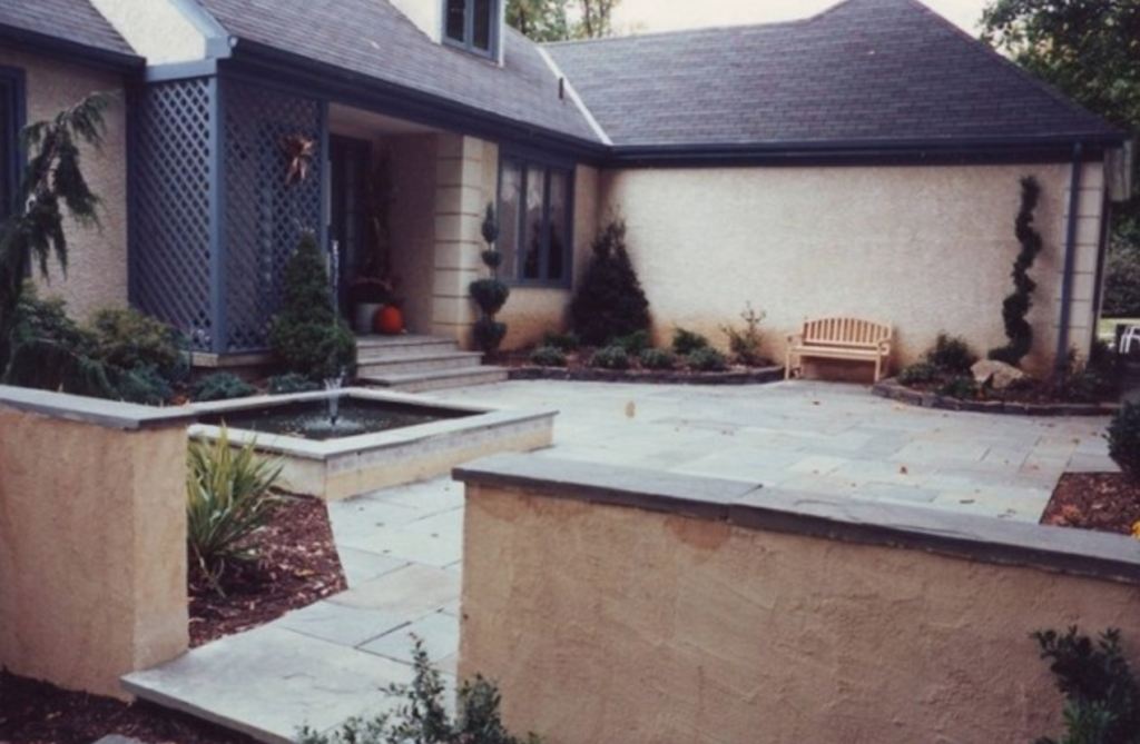 Front Porch with Water Feature