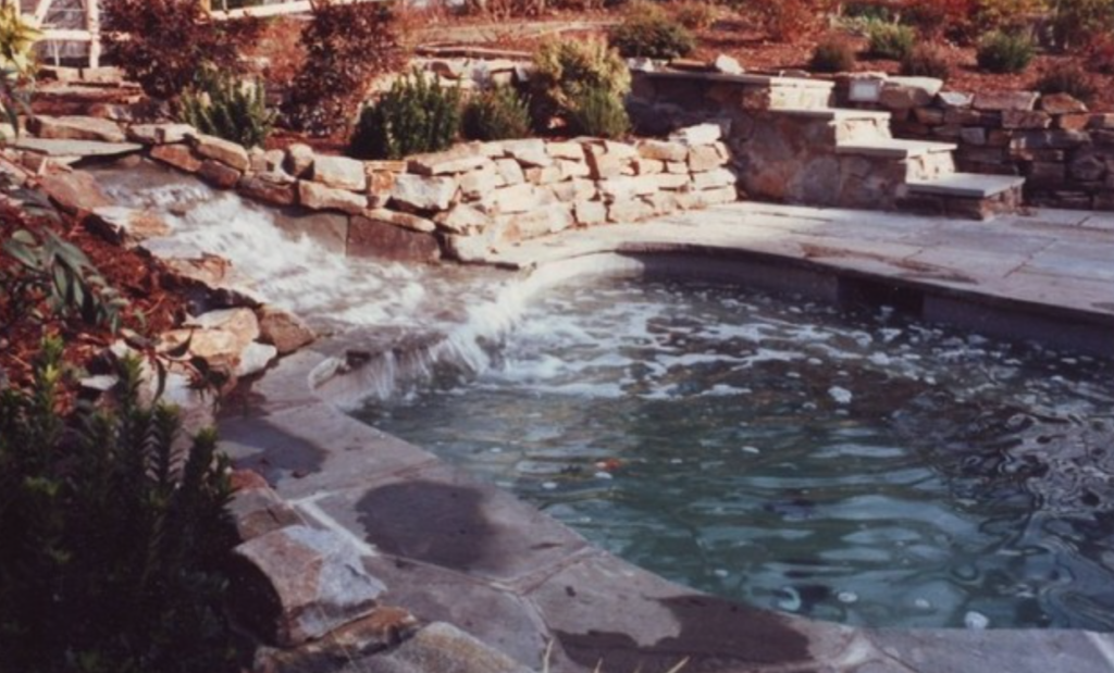 Waterfall into a pool