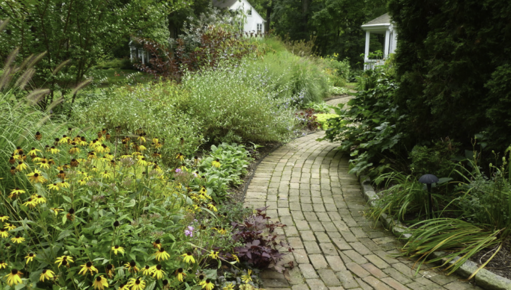 Pathway garden in Wayne, PA
