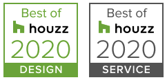 2020 Houzz awards - Best in Design and Best in Customer Service for Aardweg Landscaping